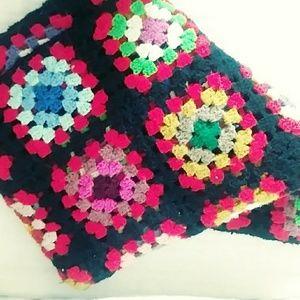 Other - Vintage Granny Square Crochet Afghan